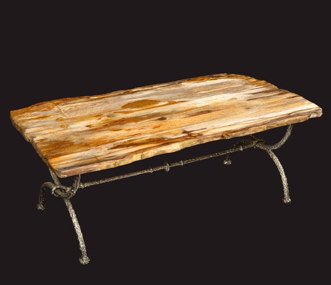 petrified wood stump side table