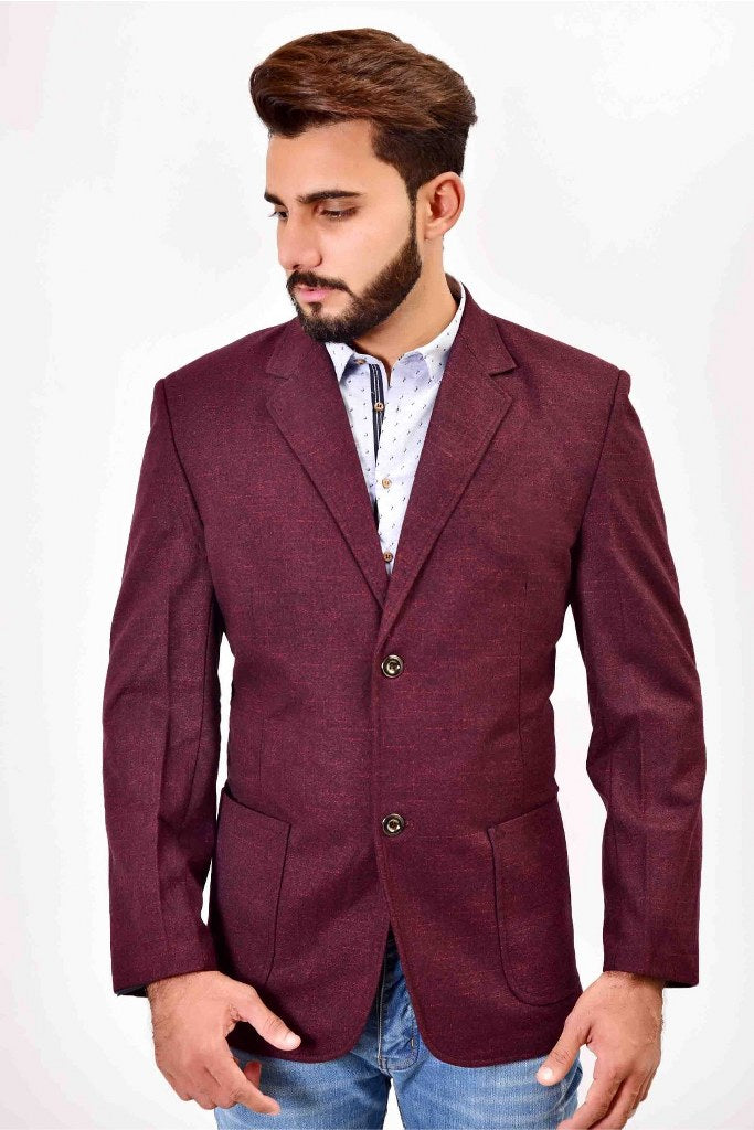 Mens Casual Coat Wine