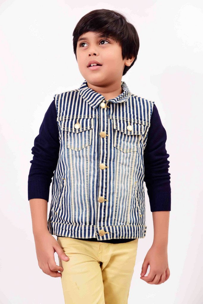 Kid Denim Winter Navy Jacket