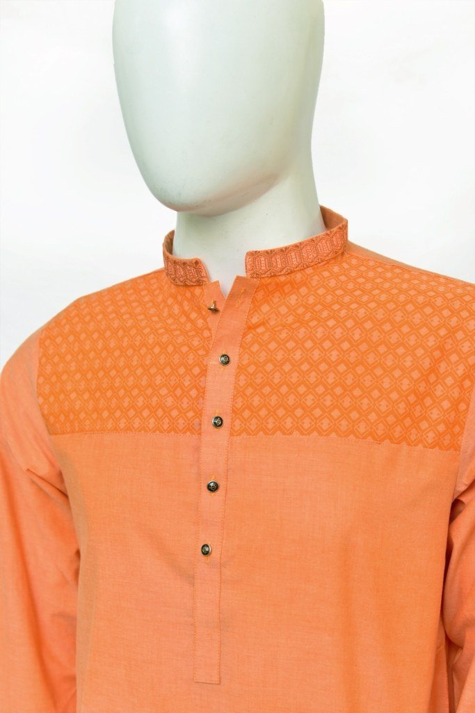 orange kurta pajama for mens