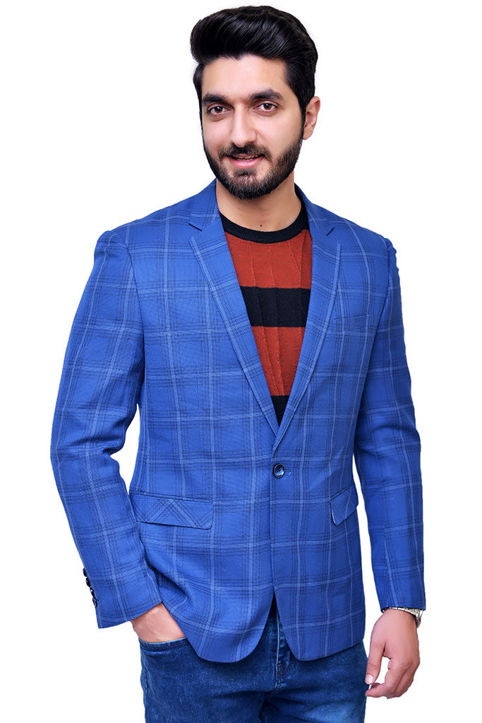 Blue casual coat for men in Pakistan