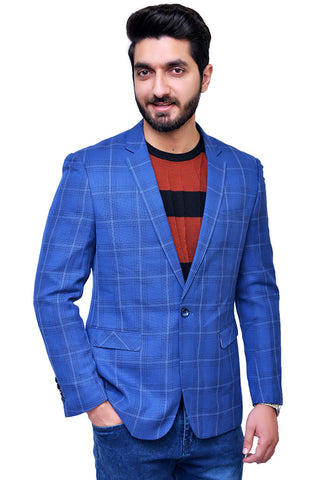 Mens Casual Coat Blue