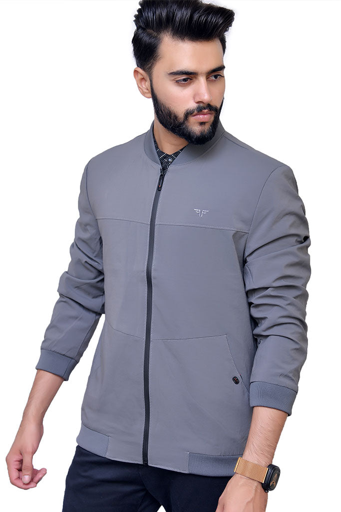 Grey Parachute Jacket for men