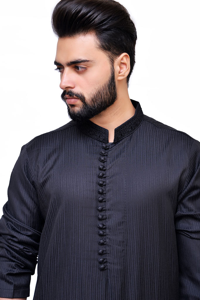 Black Kurta Designs For Mens