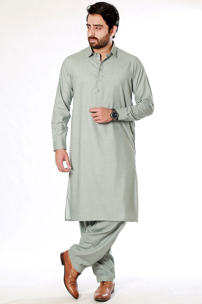 Grey Kameez Shalwar for men