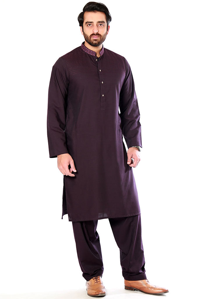 Brown Shalwar Kameez for Mens