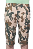 Men Denim Short Camo Design Green