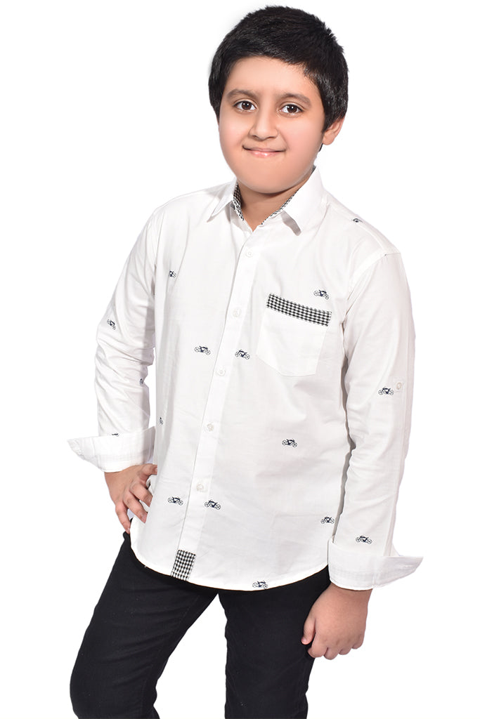 Kids Casual Shirts White