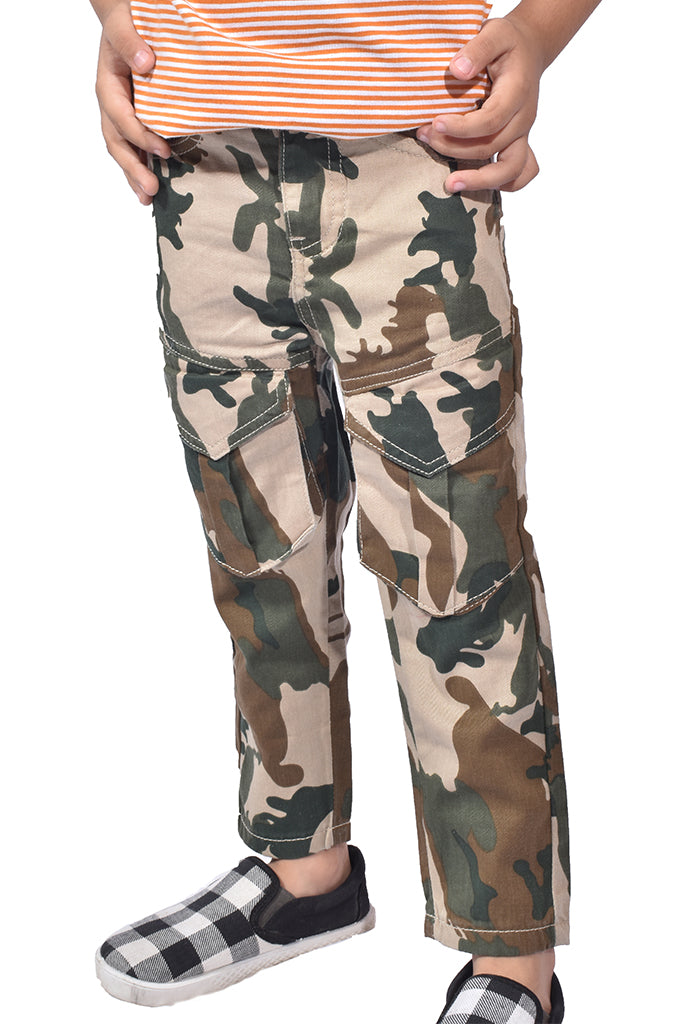 Regular Fit Cotton Trouser Camo