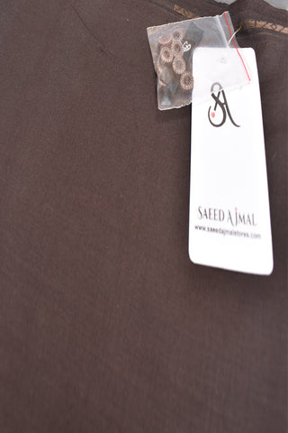 Men Premium Blended Unstitch Fabric Brown