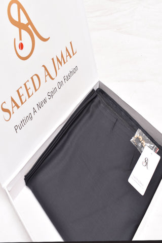 Men Premium Blended Unstitch Fabric Charcoal