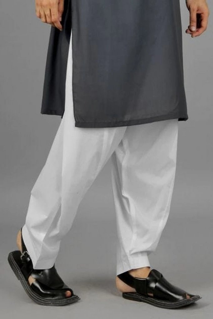 Mens cotton shalwar white