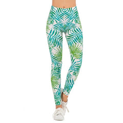 Women Fashion Legging Fluorescent tree branch