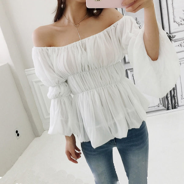 Sexy Off Shoulder Blouse Render Tops