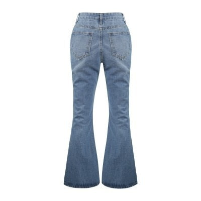 Sexy  Jeans Slant Trousers Bell-bottoms