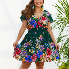 Women's Plus Size Dress Paisley Floral Print