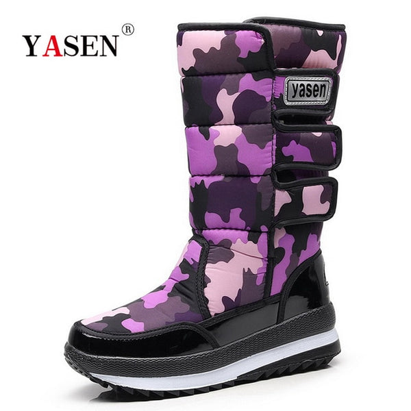 Women snow boots  platform winter boots thick plush waterproof non-slip