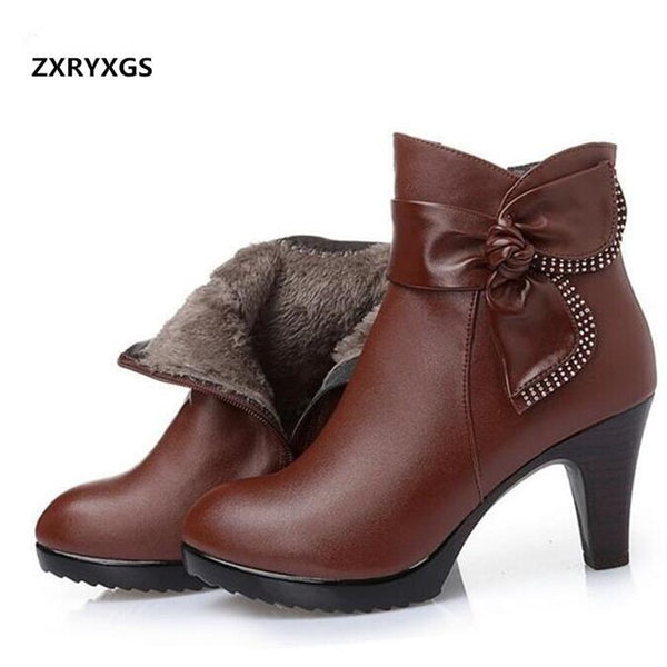 Women fashion shoes winter ankle boots