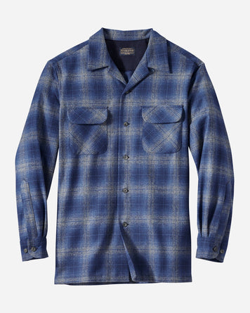 Fitted Longsleeve Board Shirt Blue Check