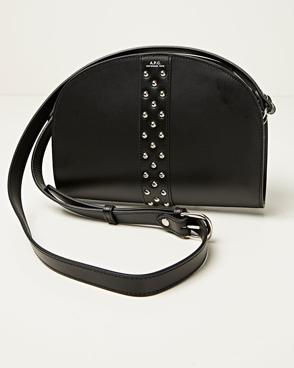 Sac Demi-Lune Black Studded Band