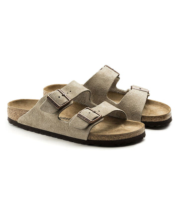 Arizona Taupe Regular Suede Soft Footbed