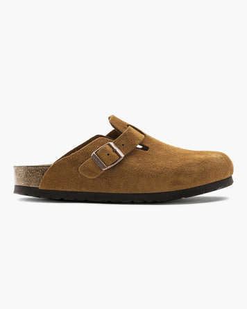 Boston Suede Mink Narrow Soft Footbed