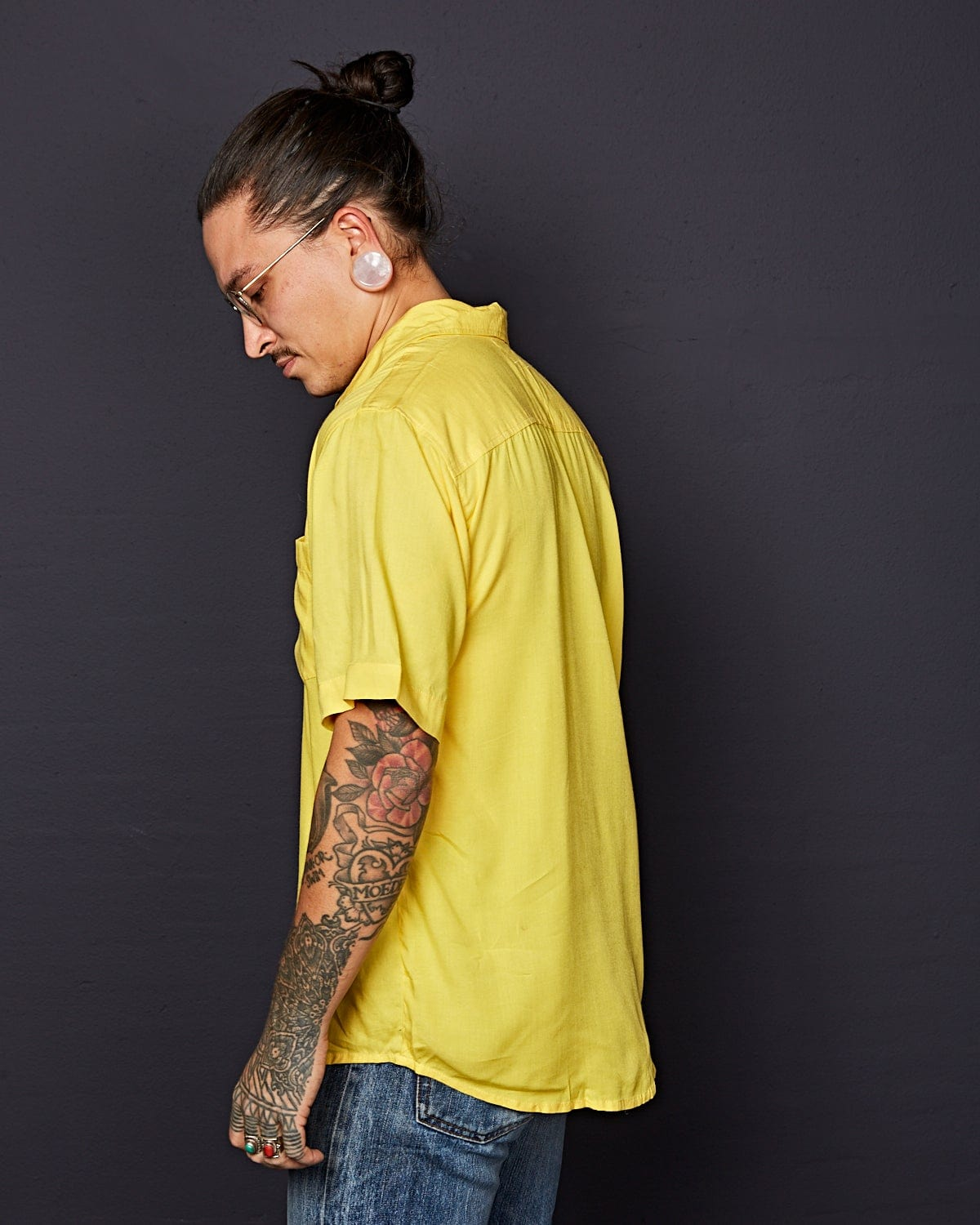 Deadstock Rayon Shirt Yellow
