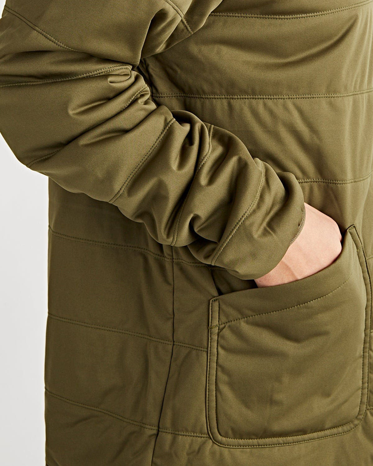 Flexible Insulated Cardigan Olive