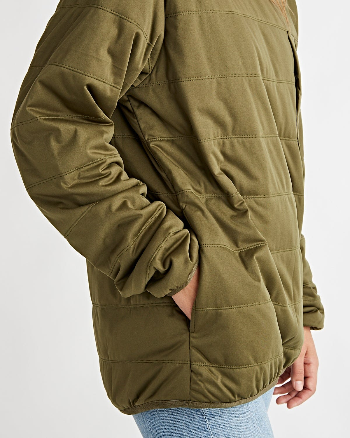 Flexible Insulated Pullover Olive