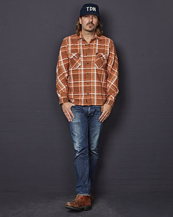 Bryson Orange Flanel