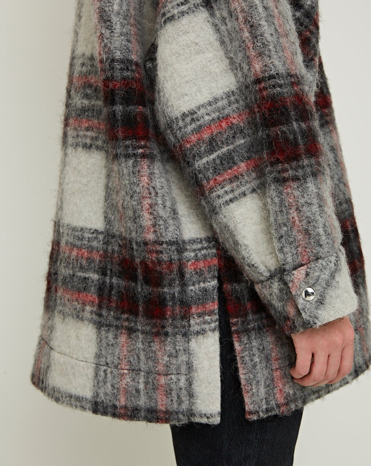 Minsky Coat Check Grey