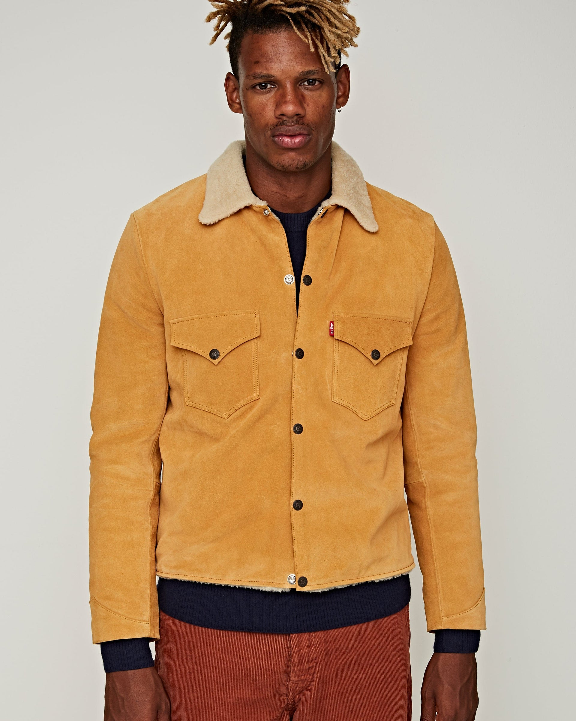 LVC Suede Sherpa Trucker Golden Nugget