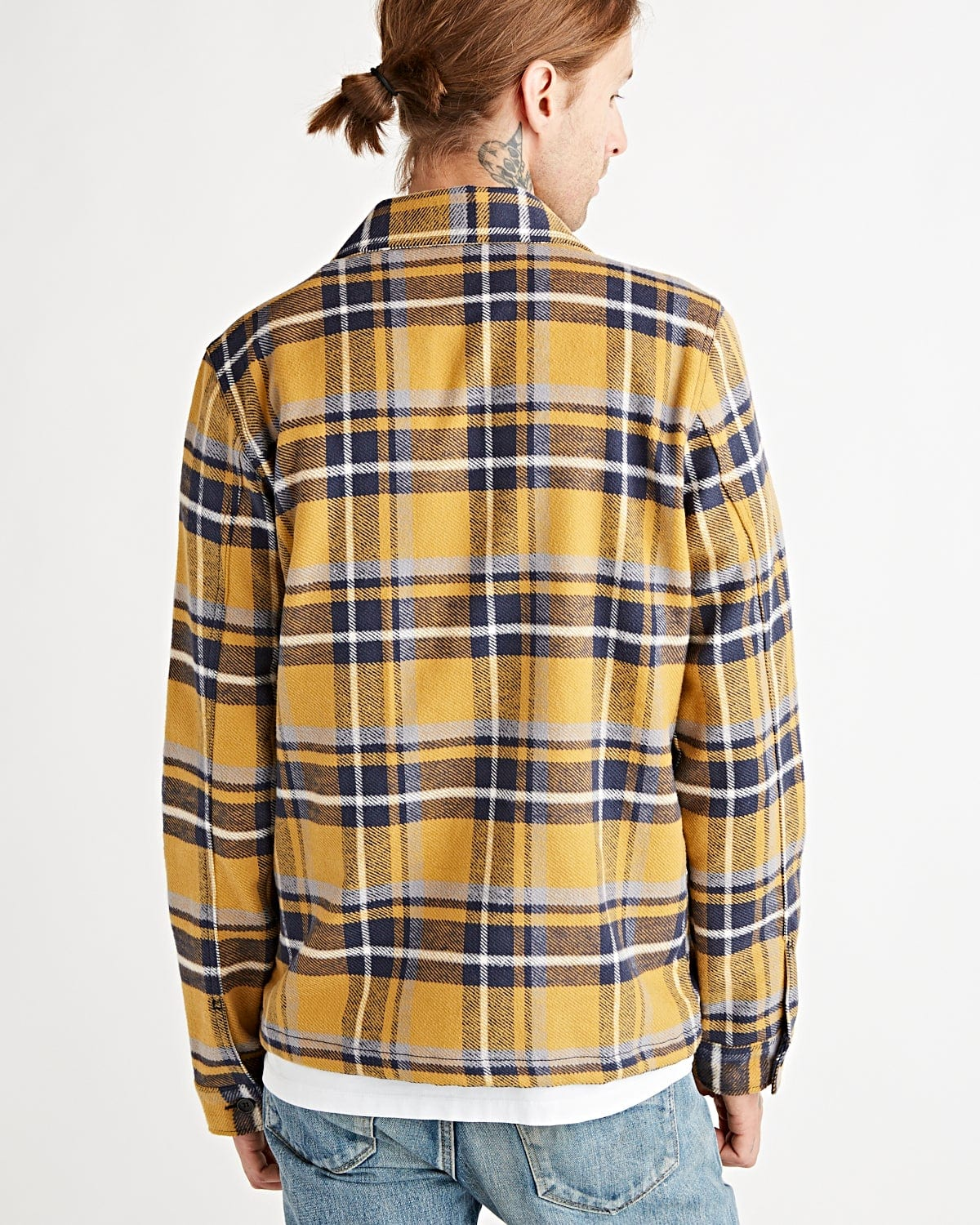 Work Shirt - Heavy Weight Vintage Flannel Blue / Yellow