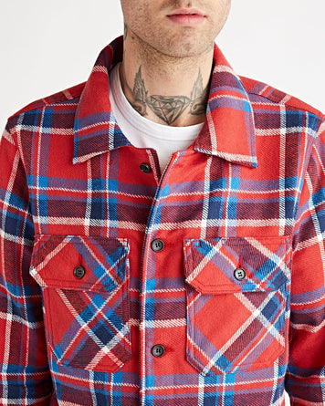 Work Shirt - Heavy Weight Vintage Flannel Red