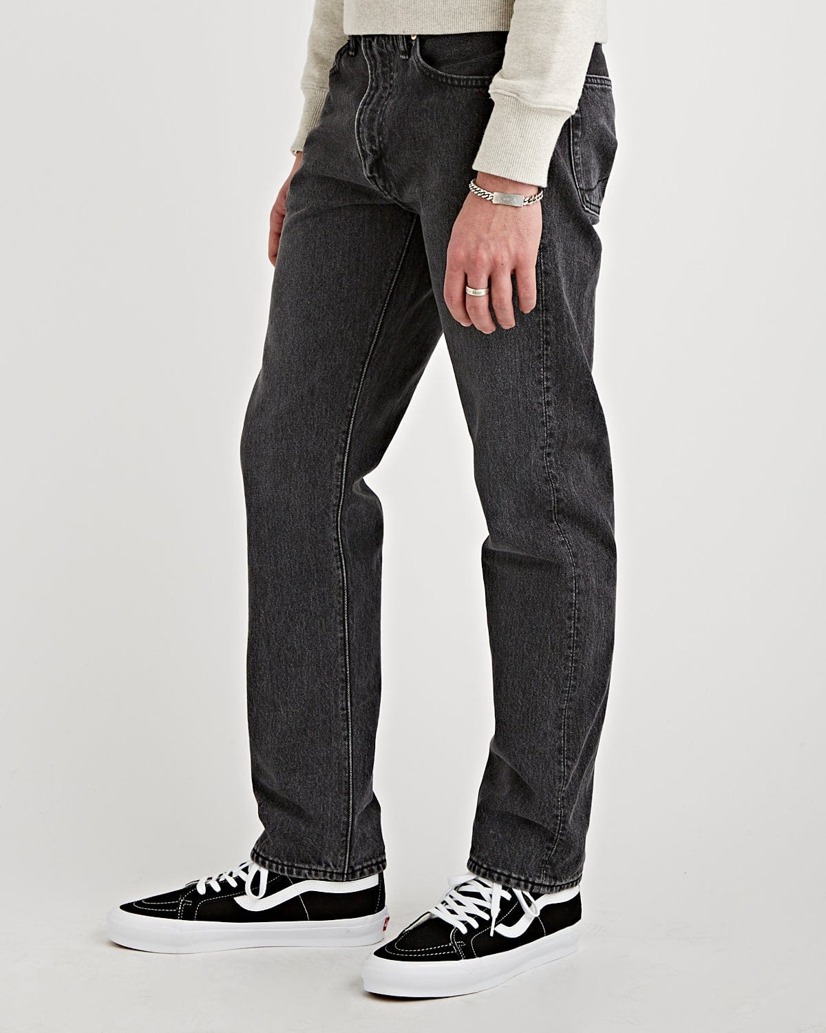 107 Denim Stone Wash Black