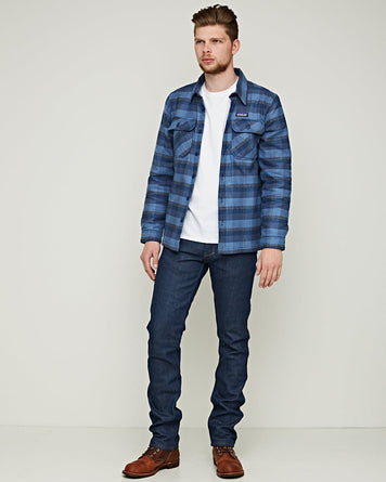 M's Insulated Fjord Flannel JKT Woolly Blue