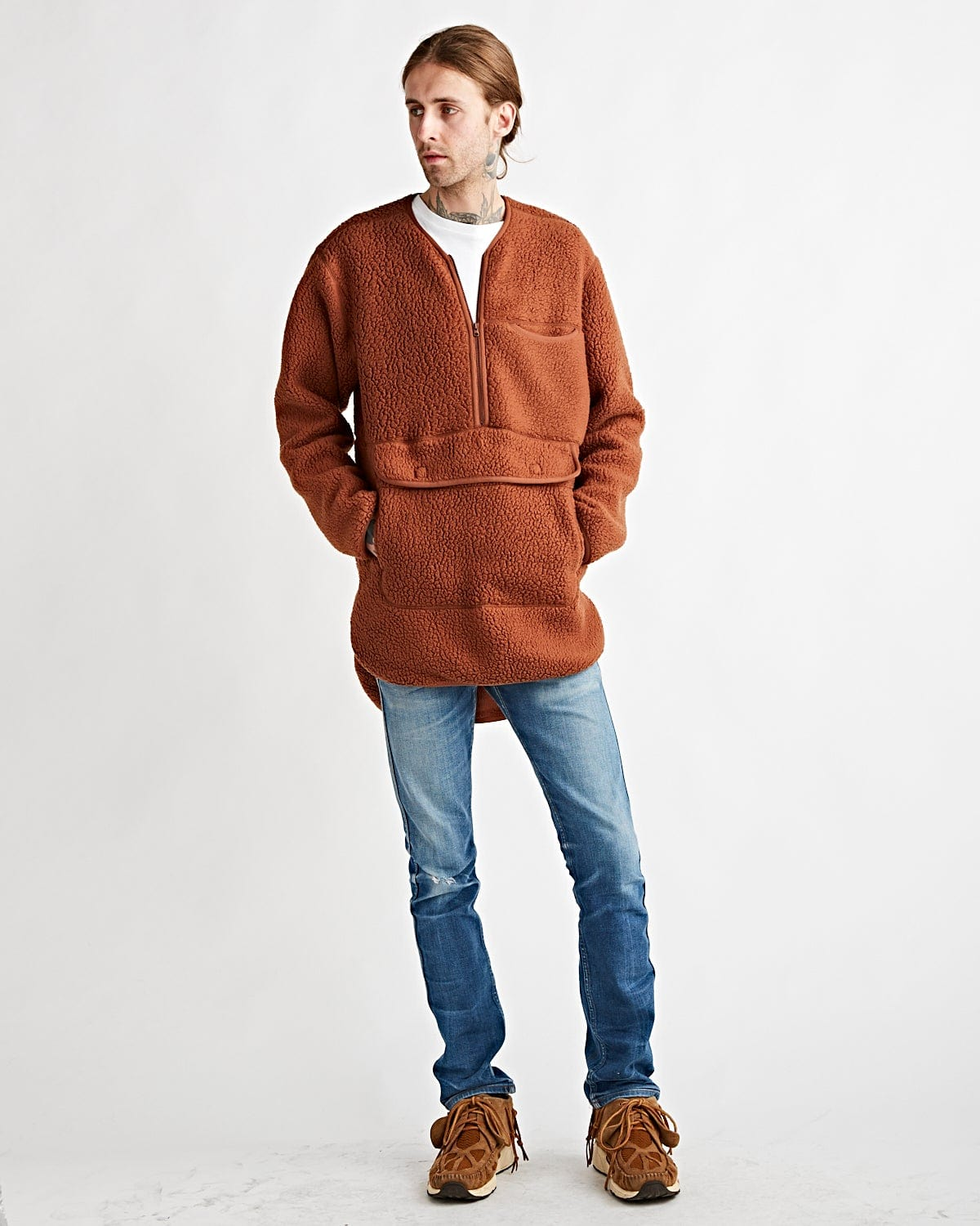 Classic Fleece Pullover Orange
