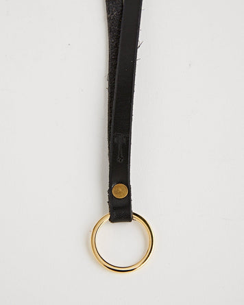 Key Ring Long Black