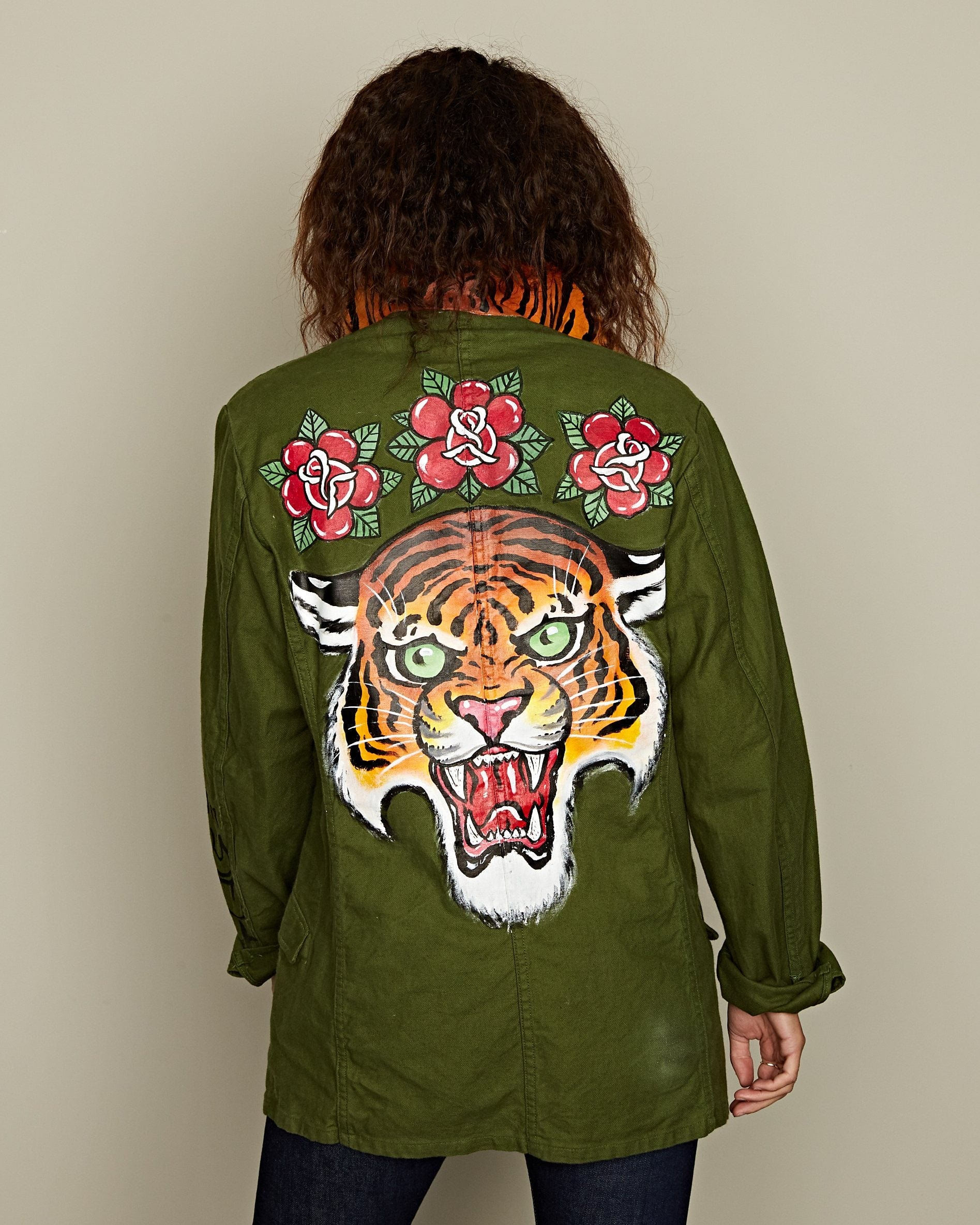 Swedish Army Jacket 'Tiger & Roses' by Tycho Veldhoen
