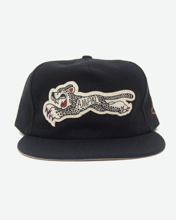 Cheetah Wool Strapback Black