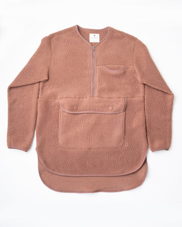 Thermal Boa Fleece Pullover Brown