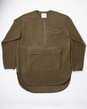 Thermal Boa Fleece Pullover Olive