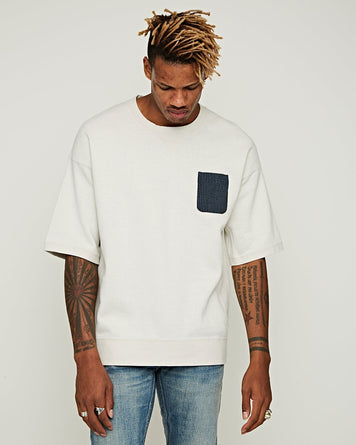 Jumbo Sweat Pocket S/S Off-White
