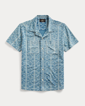 Camp Shirt S/S Washed Indigo