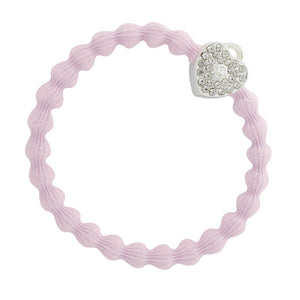 BY ELOISE, Bling Silver Heart Lock, Soft pink