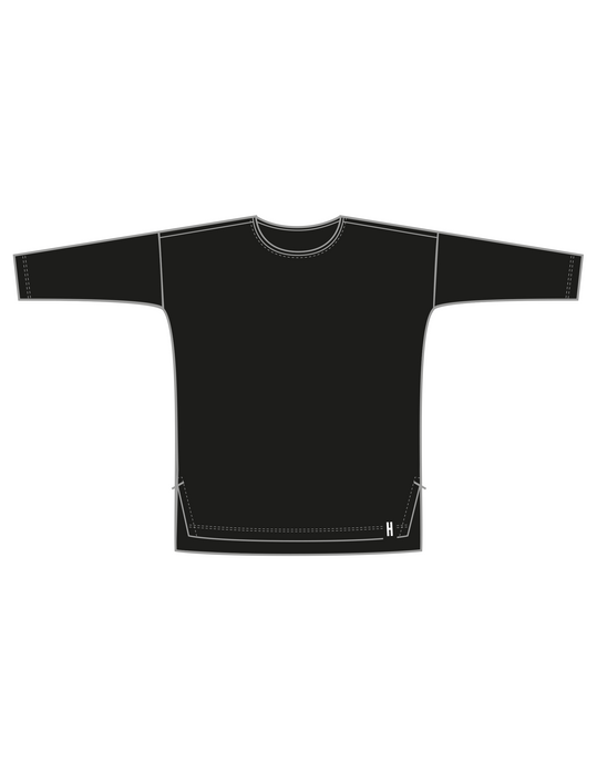 BOX TEE (LS) / naisten, Black