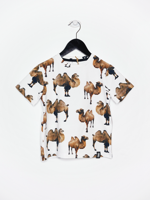 REGULAR T-SHIRT, Camel