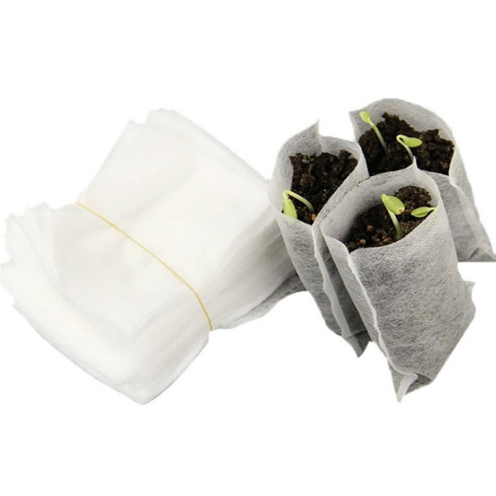 Bio-degradable Seedling Grow Bags 100 pcs