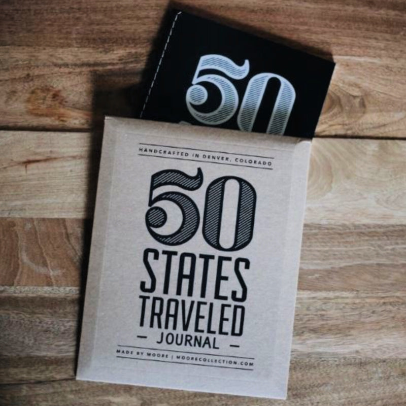 50 States Traveled Journal
