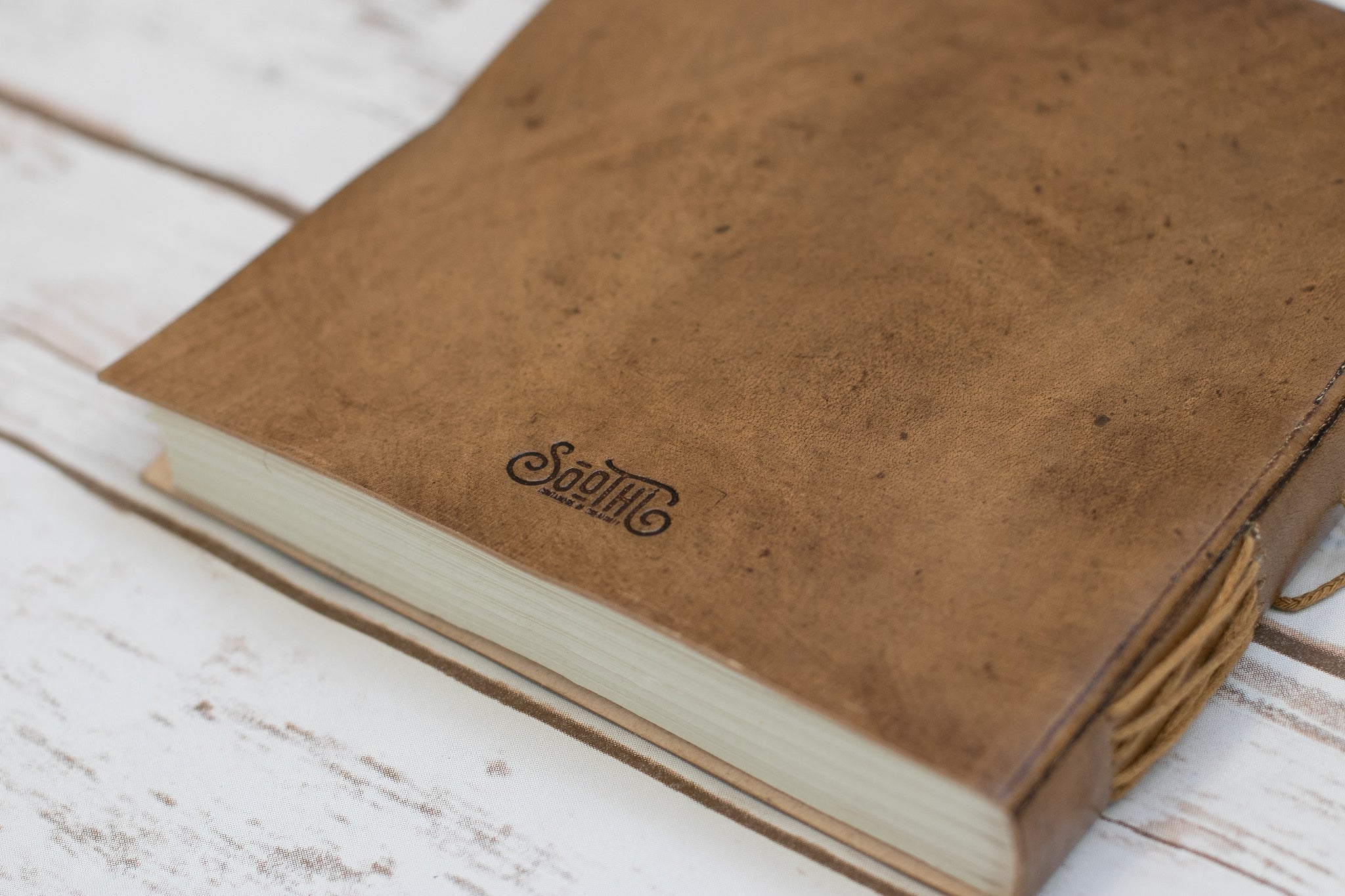 Moon Phases Embossed Leather Journal